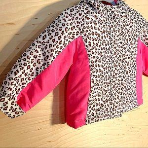 Neon Pink Cheetah Winter Coat